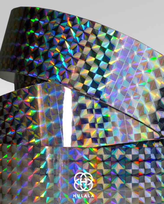 taśma holograficzna do hula hop diamond SREBRNA