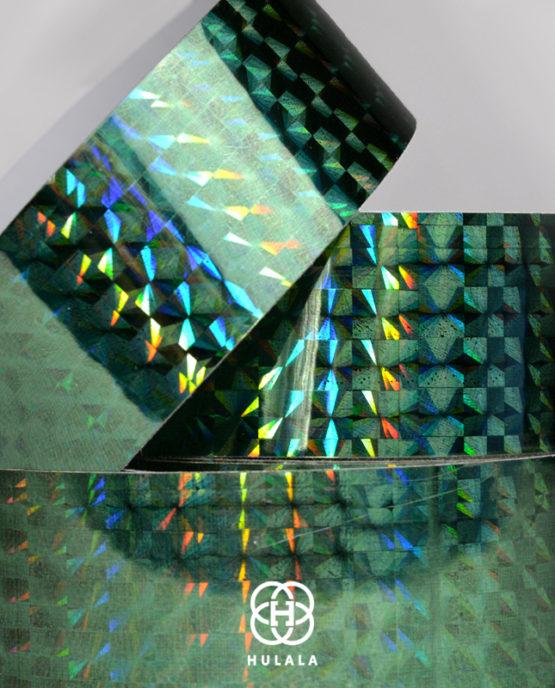 taśma holograficzna do hula hop diamond ZIELONA