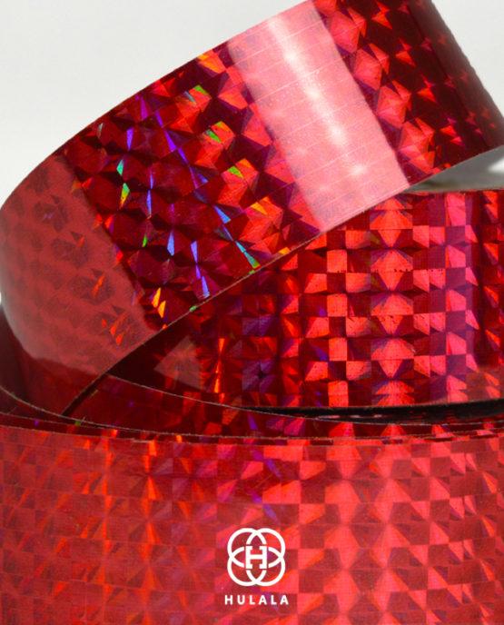 taśma holograficzna do hula hop diamond czerwona