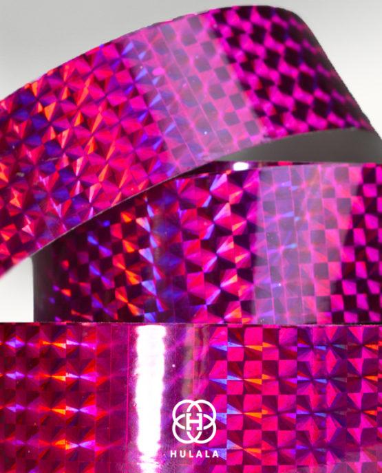 taśma holograficzna do hula hop diamond fioletowa