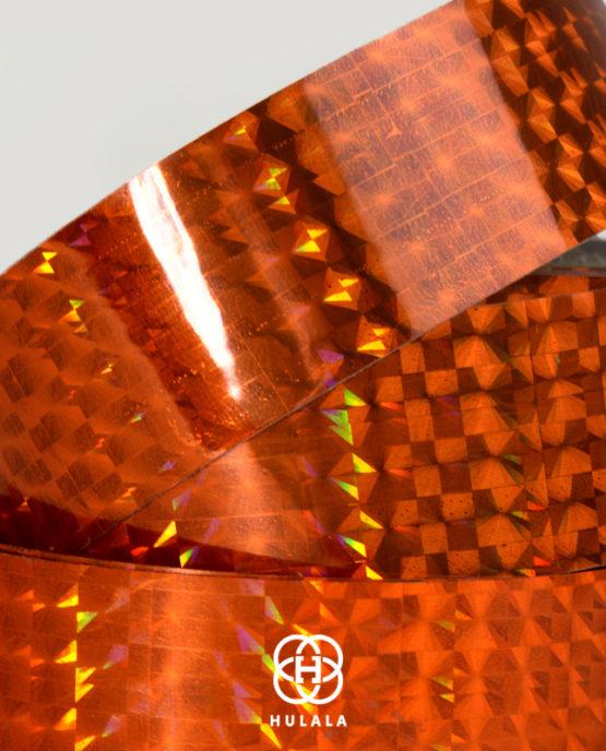 taśma holograficzna do hula hop diamond pomarańczowa