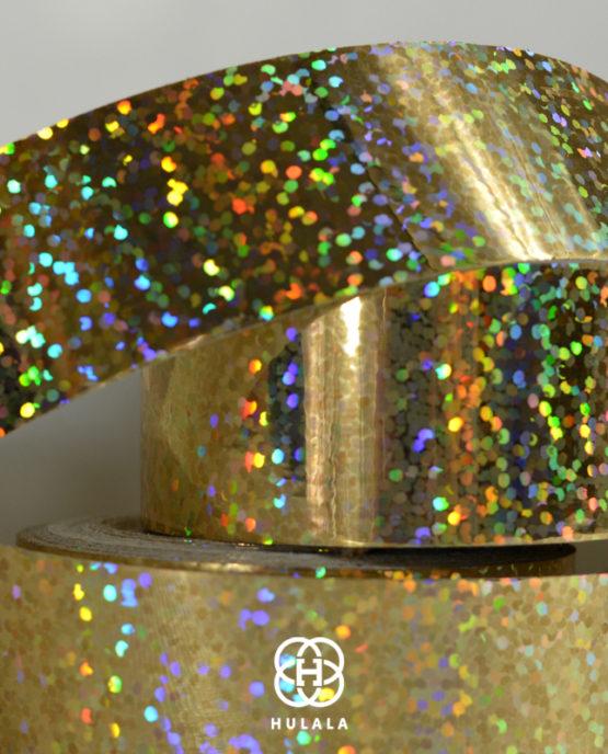 taśma holograficzna do hula hop sequins ZŁOTA