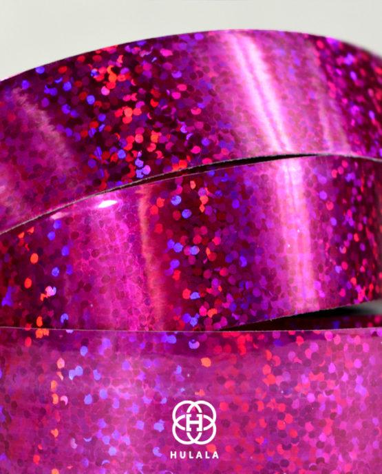 taśma holograficzna do hula hop sequins różowa