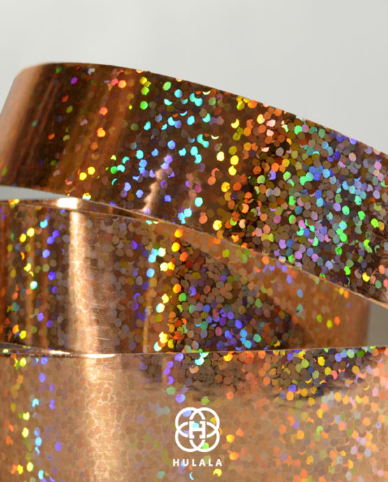 taśma holograficzna do hula hop sequins różowe złoto