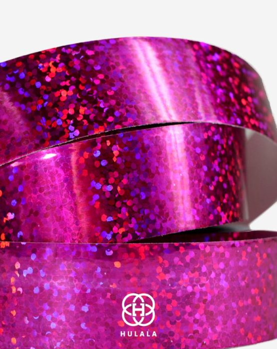 tasma-do-hula-hop-holograficzna-rozowa